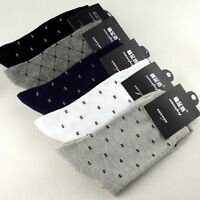 5 Pairs Mens 100% Cotton Warm Casual Business Classic Dress Pure Socks 7-11