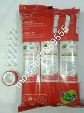 Hitech Brand RO Inline Water Filters Pre+Post Carbon+Sediment + 6 Elbow +taflone