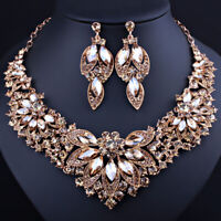 Fashion Crystal Jewelry Sets Bridal Necklace Earrings Set Wedding Party Jewelery