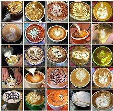 16Pcs Cappuccino Latte Coffee Barista Art Stencils Duster Cake Icing Spray