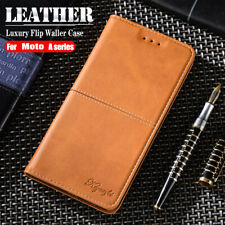For Motorola Moto G8 Power E6 G7 Plus Flip Leather Magnetic Wallet Case Cover