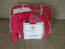 New Red Adrienne Vittadini Studio,  3 Piece Cosmetic Bag Set