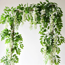 Wisteria Artificial Flowers Vine Garland Wedding Arch Decoration Flowers Ivy