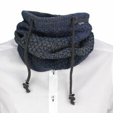 No Excess Knitted Scarf Loop Knitted Blue Gray Melange 82950915 132