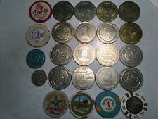 Lot of 20+ Casino Tokens, Plastic, Resin and Metal