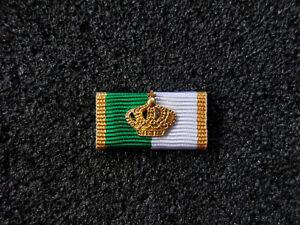 A14-303 Schützen Ordensspange Bandspange Schützenverein König Gold Krone