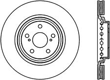 Disc Brake Rotor-Sport Drilled Disc Front Right Stoptech 128.44158R