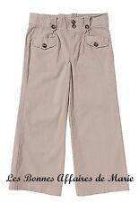 gCARLING - LIQUIDATION - Pantalon basique beige taille ajustable 6A - Neuf