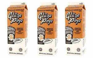 Glaze Pop, Frosted Caramel Popcorn Flavoring, Gold Medal Product 2525, 3 Cartons