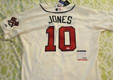 Chipper Jones signed Braves Majestic Authentic On-field jersey PSA/DNA # AC79255