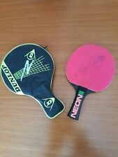 New listing Dunlop neon table tennis bat with case