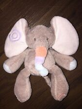 Nattou Kuscheltier Plüschtier Elefant Dumbo Thermo Scan Braun Grau Orange Blau
