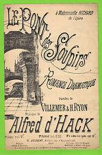Partition ancienne Old Sheet music XIX Le pont des soupirs Alfred Hack illustré