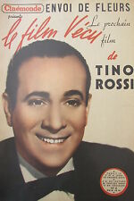 CINEMA REVUE CINEMONDE FILM VECU de 1950  TINO ROSSI  ENVOI DE FLEURS