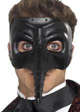 Deluxe Halloween Máscara De estilo Negro plaga médico