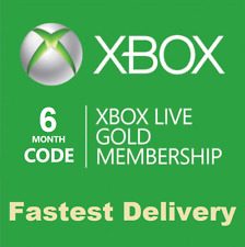 Xbox Live 6 Months Gold Membership Subscription Code (Xbox 360 Xbox One)
