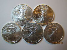 2012, 2013, 2014, 2015 & 2016 1 oz. American .999 Silver Eagles, BU w/ No Marks!