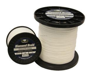 Momoi Diamond Braid Generation III Hollow Core, 130lb, 600yd, White