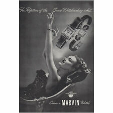 1946 Marvin Watch: Perfection of the Swiss Watchmaking Art Vintage Print Ad