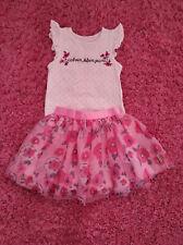 Euc Calvin Klein girls shirt skort skirt floral set sz 5