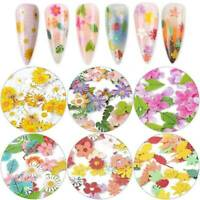 3D Shell Glitter Daisy Flower Metallic Slice Nail Art Mixed Sequins Decor Tips