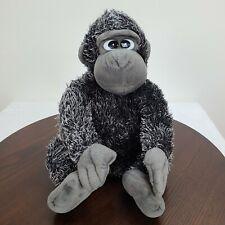 "Aurora People Pals Ape Gorilla Plush 12"" Stuffed Black Gray Monkey Animal Toy"