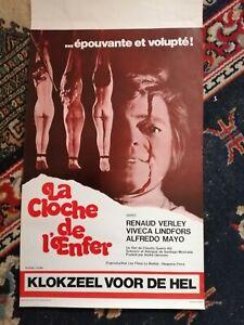 La Cloche de L'enfer Original Belgian Movie Poster Affiche Rare 1973