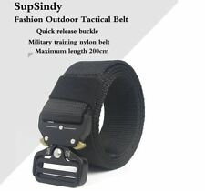 Canvas Belt Metal Outdoor Tactical Military Training Small/Extra Large 90-200cm
