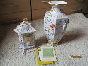 Franklin Mint -  Clock/Vase of One Hundred Flowers collection only (Northampton)