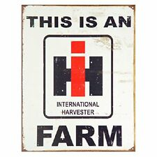 This is an IH Farm Farmall Tractors Logo Distressed Retro Vintage Metal Tin Sign
