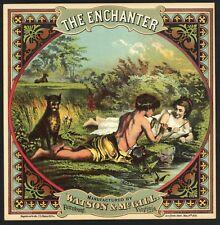 THE ENCHANTER Brand Vintage 1880's Tobacco Caddy Label, Original, 794