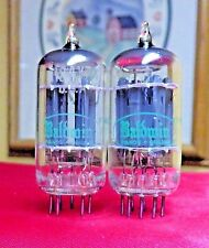 Vintage Sylvania 12AX7 PLATINUM PLUS+ GRADE Preamp Tubes Matched Pair Test NOS