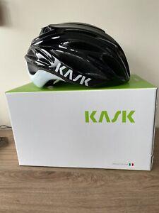 BNWT Kask Rapido Road Cycling Helmet Large 59- 62 cm - Black/White