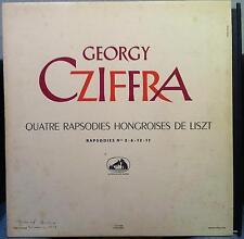 GYORGY CZIFFRA quatre rapsodies hongroises de liszt LP VG+ FALP 480 France