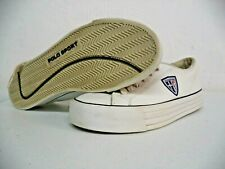 VINTAGE - POLO SPORT - SHIELD - LEATHER SHOES - WHITE SNEAKERS - CASUAL SIZE 9.5