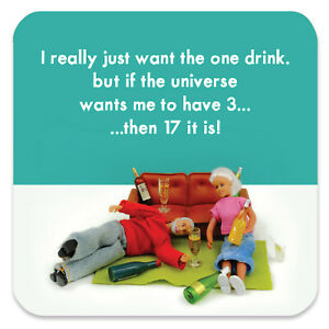 Bold & Bright Coaster Drinks Mat Funny Rude Comedy Humour Novelty Cheeky Joke