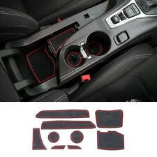 9pcs Auto Door Gate Slot Mats For Honda Chevrolet Camaro 16+ Door Groove Mat Red