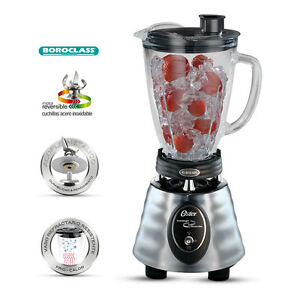 Oster 220V Chrome Blender with Glass Jar 220-240V (NOT FOR USA)