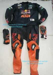 KTM FULL GEARS KIT ( SUIT, BOOTS, GLOVES ) MOTORBIKE LEATHER MOTORCYCLE LEDER