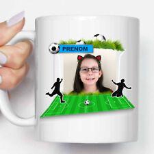 """Mug, Tasse en céramique """"Terrain de Football"""" Photo Personnalisée + Prénom"""