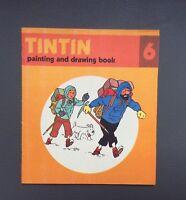 HERGÉ. Album à colorier Tintin N°6.Édition Anglaise Methuen children's book 1979