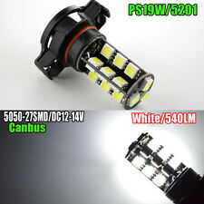 2x PS19W CANBUS 5050 27SMD LED H16 PSX24W 9009 5202 FOG DRL Bulbs WHITE 540LM