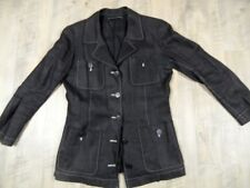 Grazia BAGNARESI bel LINO? Blazer Marrone Scuro Tg. 40? bb917 Top