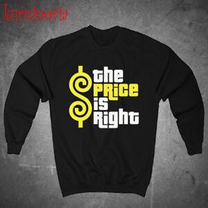 The Price is Right Logo Black Sweatshirt Size S to 3XL