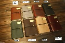 9X5 Handmade Vintage Retro Genuine Leather Custom Travel Journal Diary Note Book