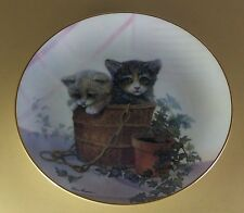 Kitten Cousins Double Trouble Plate Cat Kitten Kitty Danbury Mint Ruane Manning