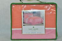 KATE SPADE Spring Street Full/Queen Duvet Cover Orange Blossom  New