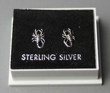 Plata esterlina 925, aretes con mariposa espalda, Escorpión Diseño, St 60