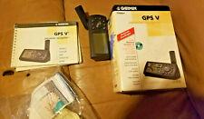 GARMIN GPS V PERSONAL NAVIGATOR w BOX PAPERWORK CD... NO DATA/CHARGE CORD FOR PC