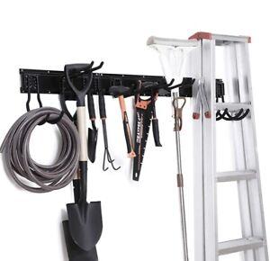 "NETWAL 48"" Garage Tool Storage System Wall Mount/800lb Cap/Slide Rail/12 Hooks!"